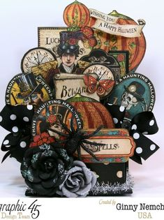 How to Make a Steampunk Spells 3d ATC Box Graphic 45. Like a Box Card only start with a pre-made box and add supports as in the box card method.