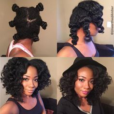 Big loose curls from jumbo bantu knots!! ✨✨ I used my homemade whipped shea butter to style which I have a video for on my channel!  Channel link in bio! #UnearthedAmber #protectivestyles #nhdaily #naturalhairdaily #hair2mesmerize #curlbox #luvyourmane #trialsntresses #amazingnaturalhair #teamnatural_