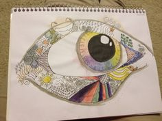 A kinda Zentangle rainbow eye thing. What do y'all think? ~ by Sadie Hickerson