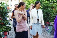 Street Style: Milan Fashion Week Spring 2015 — Vogue (right) Caroline Issa
