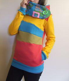 TIME TRAVELER Hoodie Sweatshirt Sweater Recycled by MungoCrafts