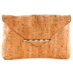 Cork if my new raffia this summer! Try this great @ElaineTurner option at $175. Loving the flecks of gold too! Essential for summer party dresses. I love Cork, for floors, shoes and yes Purses.. / Clutch