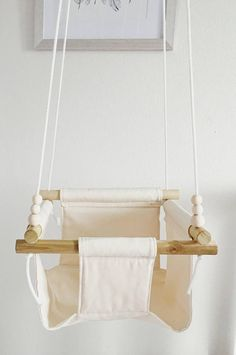 cream color baby swing toddler swing natural swing porch