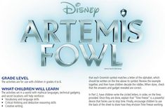 3 to 6 grades kids will join Artemis on a mission and use their vocabulary, decoding, and creative writing skills to solve puzzles on their own High School Art, Middle School Art, Teaching Art, Teaching Resources, Lesson Plan Templates, Lesson Plans, Artemis Fowl, Book Sculpture, Art Lessons Elementary