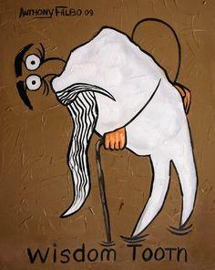 Wisdom Tooth Print/Poster Dental cubist Anthony Falbo. $59.00, via Etsy.