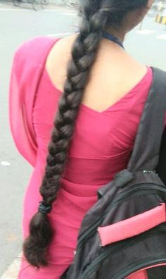 Indian Long Hair Braid, Long Hair Ponytail, Braids For Long Hair, Plaits Hairstyles, Slick Hairstyles, Hair Plaits, Beautiful Braids, Beautiful Long Hair, Indian Braids