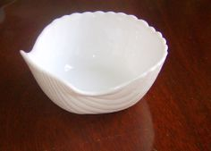 Set of Two Milk Glass Coquille Seafood Shell Dishes