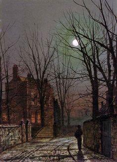 .Moonlight  Artist: John Atkinson Grimshaw