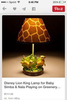 Disney Lion King Lamp For Baby Simba U0026 Nala Playing On Greenery Base Brown  Giraf