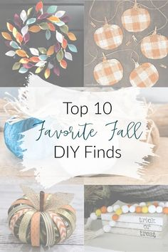 The internet has a plethora of ideas for you to take inspiration from… but sometimes, it's so time consuming to scroll forever, trying to find the perfect project to re-create! That's why TODAY, I did the work for you… and I'm showing you my TOP 10 Favorite Fall DIY projects that I have found while scouring the web! #FallDecor #DIYProjects #FallIdeas Easy Fall Crafts, Fall Diy, Diy Crafts, Fall Projects, Diy Projects, Burlap Kitchen, Shabby Chic Pumpkins, Wood Bead Garland, Felt Leaves