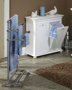 Super functional design for clothes hamper from Hampton Bay.