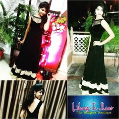 Our #Beautiful & #Happy #Customers :) #DRESSOfTHEDAY Trendy Sparkling #Black & #Golden #Gown #lace ✂We even provides stitching facility  Visit our official page www.Facebook.com/LIBAASEHOOR  Follow us on INSTAGRAM : www.instagram.com/LIBAASEHOOR  To order/enquire/ call us or whatsapp at: +(91)09039115136 or e-mail us at: libaasehoor@gmail.com  #partywear #black_designer #gowns #choli #glamour #indianwear #indianstyle #indianbridal #traditionalwear #bridal  #indianbride #indianfashion…
