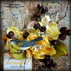 Created by @luv2create09 for Mixed Media Monthly Challenge #11 April 2015