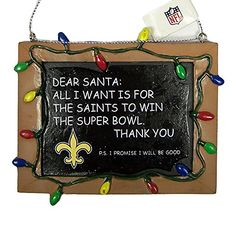 New Orleans Saints Tree Ornaments