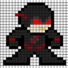 Speedster Villains   Negative Flash Perler Bead Design