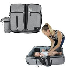BagyBed combines a diaper bag with a diaper changing station and a travel bassinet. Easily portable and folds within seconds. Best Bassinet, Amazon Prime Day Deals, Pocket Holster, Diaper Changing Station, Co Sleeper, Portable Crib, Traveling With Baby, Sleeping Bag, Baby Gifts