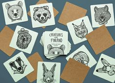 """Memory game """"Creatures from Finland"""" by Bros"""