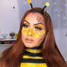 Bumblebee Makeup, Halloween Makeup Witch, Colorful Eye Makeup, Maquillage Halloween, Crazy Makeup, Fantasy Makeup, Aesthetic Makeup, Costume Makeup, Creative Makeup