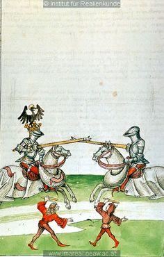Turnier   Dieses Bild: 006727     1465 ; 1475 ; Wien ; Österreich ; Wien ; Österreichische Nationalbibliothek ; cod. 3044 ; fol. 146r