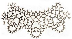 5 Collars with tatting pattern schemas / charts ! Nice !