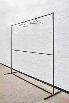 pipe clothing rack free standing single rail kee. Black Bedroom Furniture Sets. Home Design Ideas