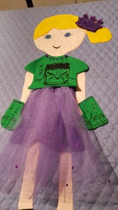 Hulk Princess Paper Doll Blanket! !