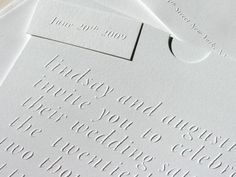embossed wedding invitations by studio on fire Letterpress Wedding Stationery, Embossed Wedding Invitations, Formal Wedding Invitations, Elegant Wedding Invitations, Invites, Wedding Stationary, Invitation Cards, Rustic Wedding Signs, Wedding Ideas