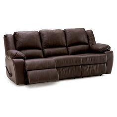 Palliser Furniture Delaney Reclining Sofa Upholstery: Leather/PVC Match - Tulsa II Bisque, Type: Power