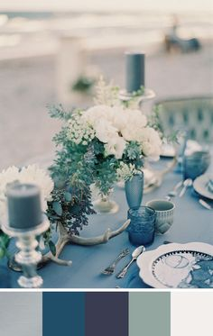 Cool Silver: 5 Silver Color Palettes for your Wedding Day
