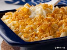 Want some down-home, southern-style chow on your table? Then you have to try our Southern Potato Bake. Dish up hearty portions of this hot and hearty potato casserole and enjoy, y'all! With ingredients like hash browns, corn flakes, and Cheddar cheese, how could you not?