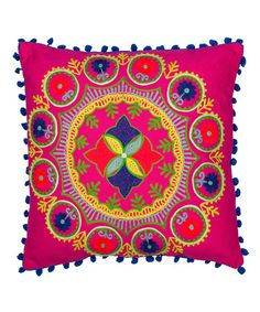 Karma Living Pink Botanical Throw Cushion | zulily.com.  Buy it or make it yourself!