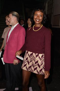 Shala Monroque attends the Givenchy show as part of the Paris Fashion Week Womenswear Spring/Summer 2015 on September 28, 2014 in Paris, France.