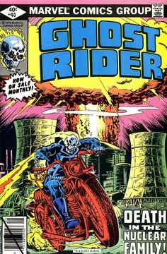 Ghost Rider #40 (January 1980) - Cover by Bob Budiansky and Al Gordon