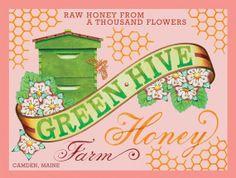Archival Print of Green Hive Honey Farm by #PatriciaSheaDesigns on #Etsy
