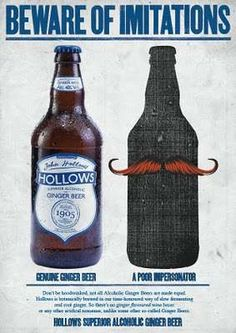 The John Hollows Ginger Beer Image has Nothing to Hide