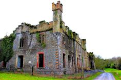 Abandoned - Castle Bernard Bandon, Co. Cork, Ireland - In 1788 Francis Bernard, who became the 1st Earl of Bandon demolished much of the old O'Mahony castle on the site, and built an 18th century castellated mansion in front of it and slightly to the east. (not strictly a castle, but rather an elegant castellated residence even though it continued to bear the name of a castle in the fashion of the time)
