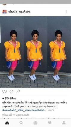 #traditionalwedding #venda #traditional #wedding African Wedding Dress, African Print Dresses, African Print Fashion, African Fashion Dresses, African Dress, Pedi Traditional Attire, Sepedi Traditional Dresses, African Fashion Traditional, African Attire
