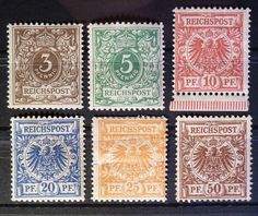 1889 Adlerausgabe Mi-Nr 45-50