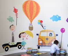 From Pop & Lolli. These are the cutest kid's wall decals I've seen.