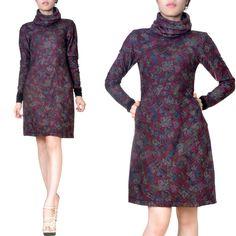 Maxikleider - Knielanges Kleid Tunika Wolljersey - ein Designerstück von m_duc1 bei DaWanda