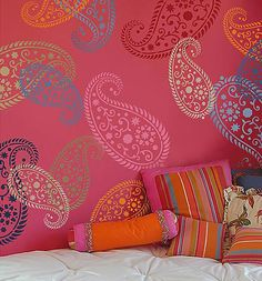 Paisley stencils  www.cuttingedgestencils.com