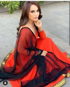 My gorgeous jyoti Eid Outfits, Fashion Outfits, Fancy Dress Design, Floral Print Sarees, Saree Gown, Indian Designer Suits, Elegant Wedding Hair, Stylish Girl Pic, Cute Celebrities