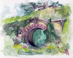The Hobbit Painting Print from Original by TheColorfulCatStudio