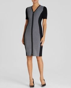 92becccd Elie Tahari Mila Color Block Sheath Office Dresses, Office Outfits, Summer  Office, Elie