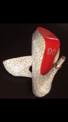 My #Louboutin #wedding #shoes and our #rings