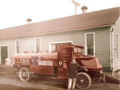 Texaco Fuel Tanker Truck 1920s. 8x10 photo print. $12.95.  I chose this because we don't have this anymore