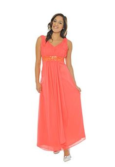 Astrapahl, Traumhaftes Abendkleid mit breiten Trägern, Pailletten Verzierung, Farbe koralle, Gr.32 Astrapahl http://www.amazon.de/dp/B005SZ16R8/ref=cm_sw_r_pi_dp_-0tStb06GJGKSFTG