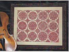 """Rosetta by Ink Circles. Stitch the """"frame"""" in black silk, do each circle in a different color of silk. Oh Dinky Dyes...."""