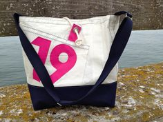 Sail bag made of recycled sailcloth by Rough Element www.etsy.com