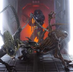 Rival alien races, one of which is the deadliest known form of life in the galaxy while the other is all about hunting and searching for a worthy opponent, and their interaction with humans. Predator Cosplay, Alien Theories, Art Of Dan, Legendary Monsters, Alien Vs Predator, Wolf Predator, Alien Concept Art, Aliens Movie, Alien Races